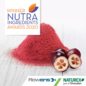WHOLE-CRANBERRY URINARY HEALTH FORMULA FLOWENS® WINS AWARD FOR HEALTHY AGEING INGREDIENT OF THE YEAR