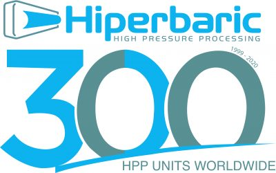 Hiperbaric reaffirms its world leadership as a provider of HPP equipment with the acquirement of its 300th machine by Calavo Growers, Inc.