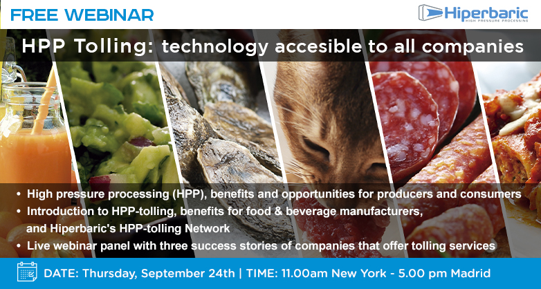HPP tolling, a food preservation choice of hundreds of companies worldwide