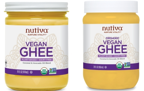 Nutiva Debuts USDA Certified Organic Vegan Ghee for High-Heat Cooking, Baking and Spreading