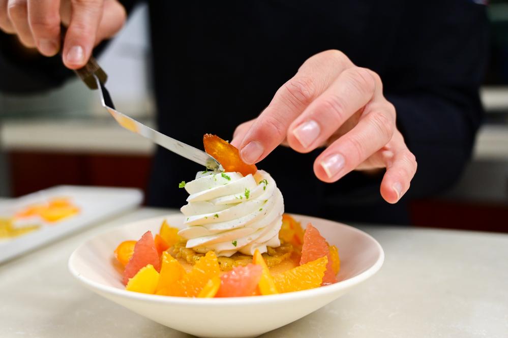 Alain Ducasse protégé Claire Heitzler reveals the ingredients for the perfect festive dessert