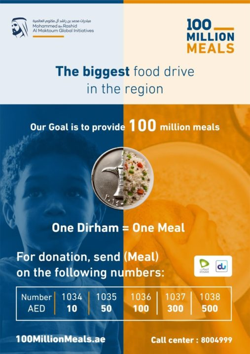 Mohammed bin Rashid launches '100 Million Meals' to provide food support in 20 countries