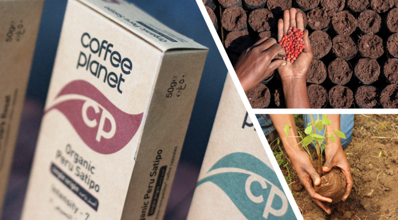 Coffee Planet, Dubai's leading home-grown coffee brand,  launches The Plant a Tree Project, in partnership with The Eden Reforestation Project