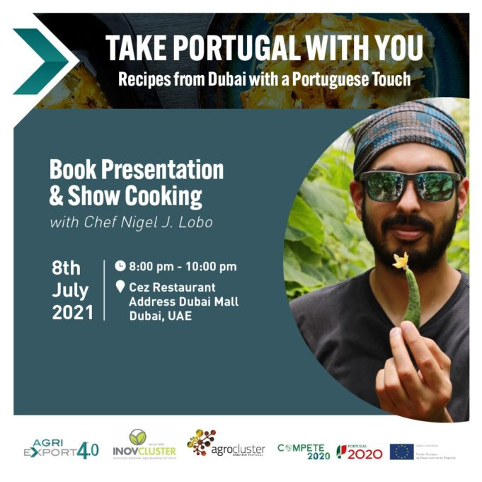 """Book Presentation """"Take Portugal with You - Recipes from Dubai with a Portuguese Touch"""" - 8th July 2021 